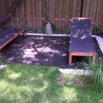 New Sod Flagstone Patio Garden Design